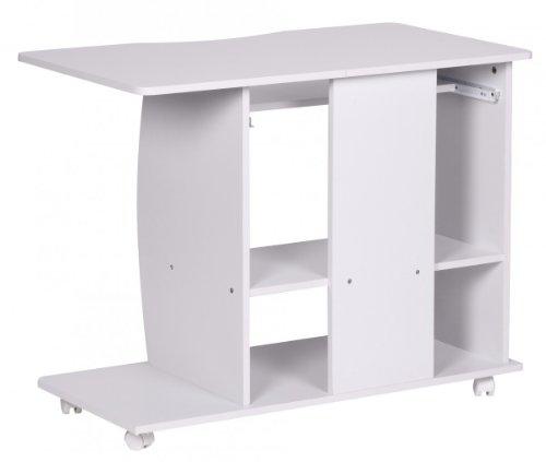 Computertisch drucker modern  FineBuy DAVID Computertisch mit Rollen fahrbar klein 90cm breit ...