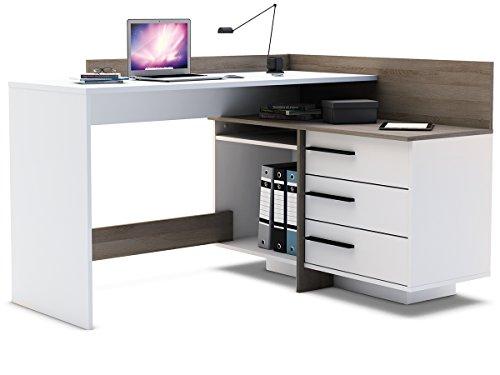 computer tisch eckschreibtisch platzsparender schreibtisch moderner arbeitstisch ba 1 4 rotisch computertisch thales gebraucht