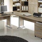 Bürotisch Office Line Winkelkombination Eckschreibtisch Eiche Sonoma - 1
